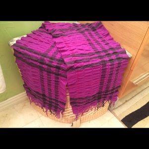 Authentic Purple Plaid Burberry Scarf